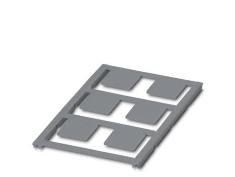 Apparaatmarkering Montagemethode: Plakken Markeringsvlak: 22 x 22 mm Geschikt voor serie Universeel gebruik Zilver Phoenix Contact UC-EMLP (22X22) SR 0825465