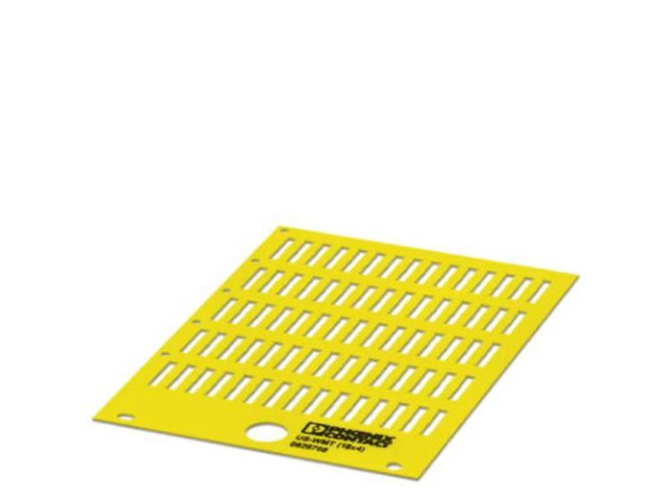 Adermarkering Montagemethode: Schuiven Markeringsvlak: 18 x 4 mm Geschikt voor serie Phoenix Contact PATG Geel Phoenix Contact US-WMT (18X4) YE 0828955 Aantal