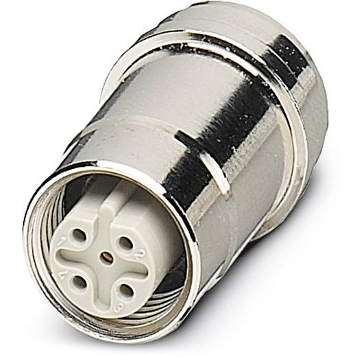 Phoenix Contact SACC-DSIP-M12FSB-5CON-L180-SI 1528251 SACC-DSIP-M12FSB-5CON-L180-SI-inbouwstekker Inhoud: 10 stuks