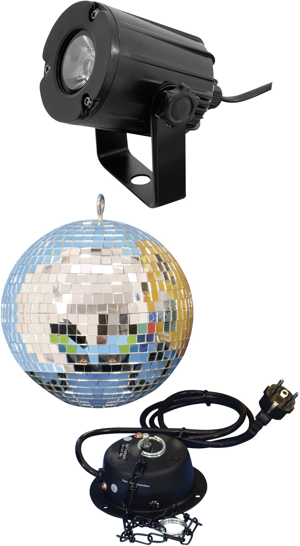 Eurolite 50101856 LED Spiegelbolset met LED-verlichting, Met motor ...