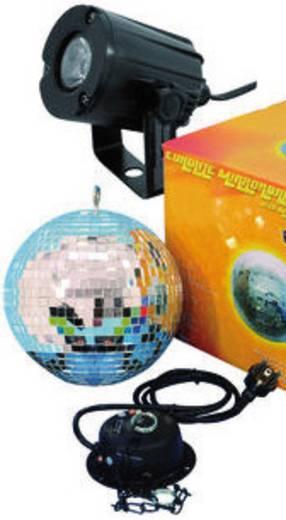 Eurolite 50101856 LED Spiegelbolset met LED-verlichting, Met motor 20 cm