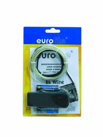 Euro Lite EL wire 2mm, 2m, wit, 6400K Koud-wit