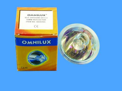 Omnilux ELC 24V/250W GX-5,3 500h 50mm Re