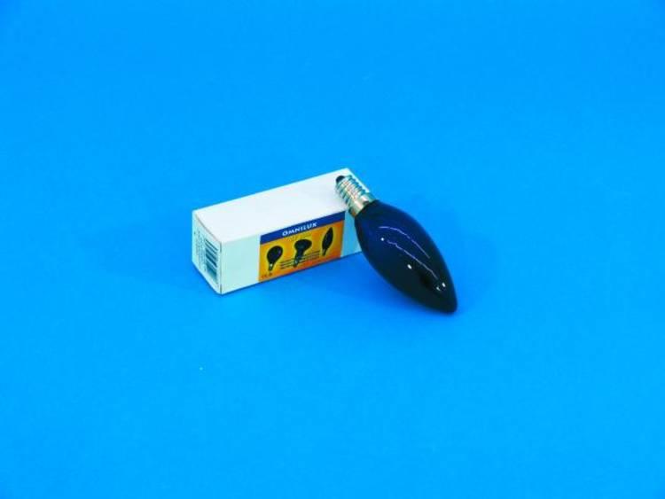 Blacklight-, UV-lamp Omnilux C35 230V-40W E-14 UV-kaarslamp 89511025 40 W E14