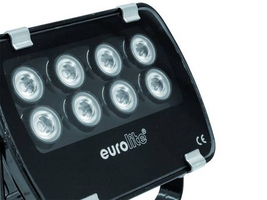 Eurolite LED IP-FL-8 3000 K 60° LED PAR-schijnwerper Aantal LED's: 8 x 1 W