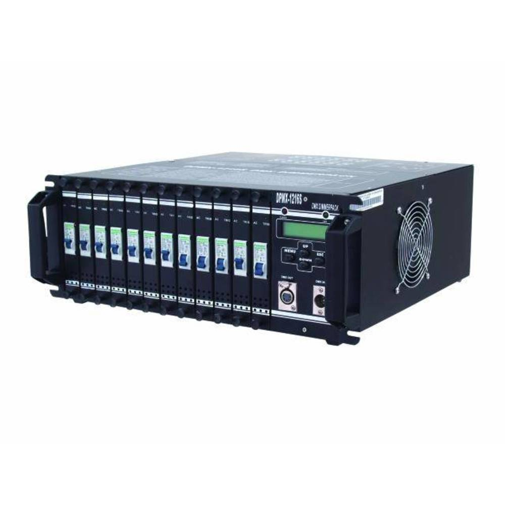 Eurolite DPMX-1216 S DMX Dimmer 12 kanaler 19-konstruktion