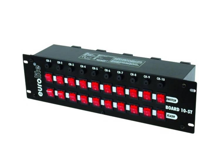 Eurolite Board 10 ST 10x Schutzkontakt 19 stroomverdeler 3 HE