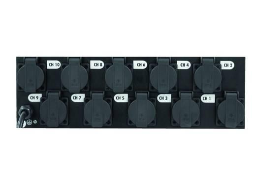 """Eurolite Board 10-ST met 10x veiligheid Contact 19"""" stroomverdeler 3 HE"""