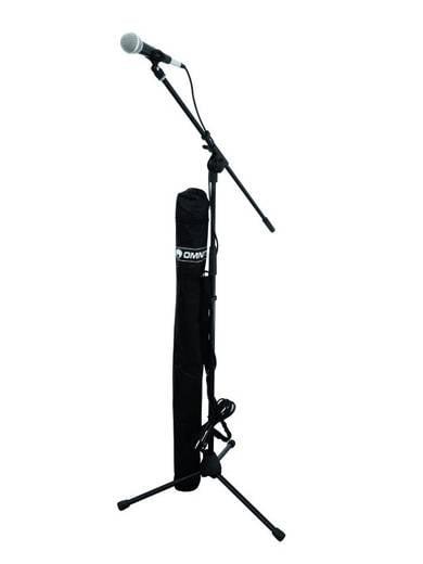 Omnitronic Hand Microfoonset Kabelgebonden Incl. kabel, Incl. standaard, Incl. klem, Incl. tas