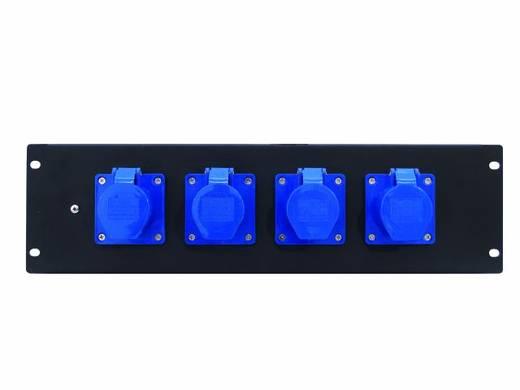 """Eurolite PDM 3U 4CEE 16A / 3-polige 19"""" stroomverdeler 4-voudig 3 HE"""