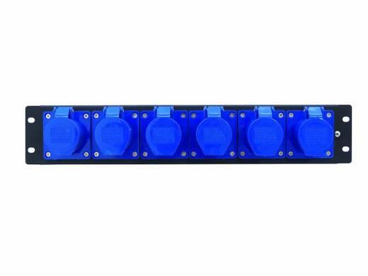 """Eurolite PDM 3U 6CEE 16A / 3-polige 19"""" stroomverdeler 6-voudig 3 HE"""