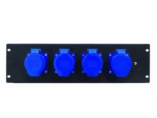 """Eurolite PDM 3U 4CEE 32A / 3-polige 19"""" stroomverdeler 4-voudig 3 HE"""