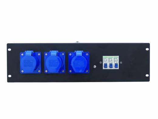 """Eurolite PDM 3U 3CEE 16A / 3-polige 19"""" stroomverdeler 3-voudig 3 HE"""