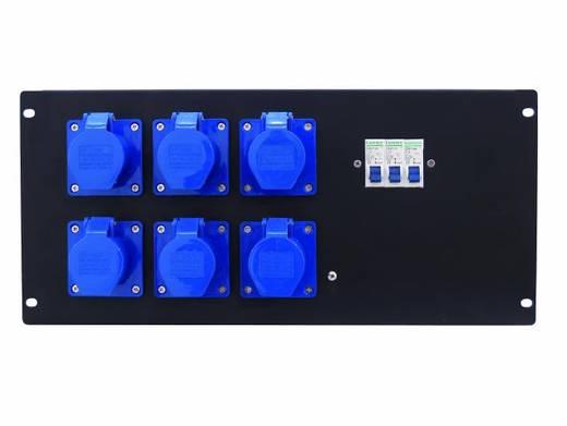 """Eurolite PDM 5U 6CEE 16A / 3-polige 19"""" stroomverdeler 6-voudig 5 HE"""