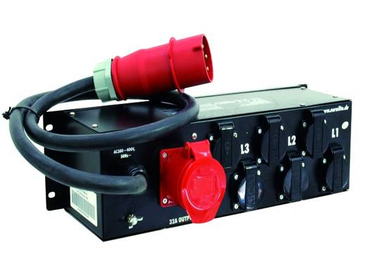 "Eurolite SBM 32 19"" stroomverdeler 6-voudig 3 HE"
