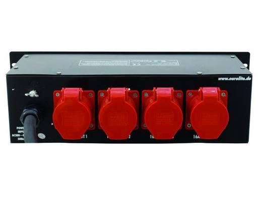 "Eurolite SBT-3216 19"" stroomverdeler 4-voudig 3 HE"
