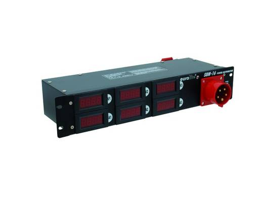 "Eurolite SBM 16 19"" stroomverdeler 6-voudig 2 HE"