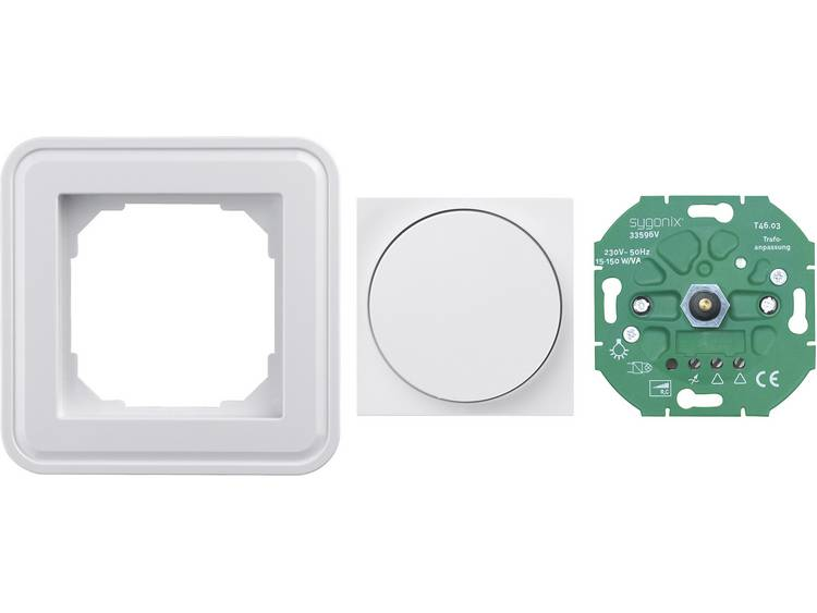 sygonix Dimmer voor dimbare LED-lampen, 15-150 W-VA plus afdekking dimmer plus lijst, enkelvoudig LE
