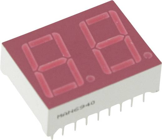7-segments-display Rood 14.22 mm 2.5 V Aantal cijfers: 2 Everlight Opto