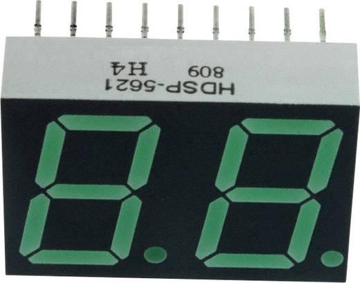 7-segments-display Groen 14.22 mm 2.1 V Aantal cijfers: 2 Broadcom