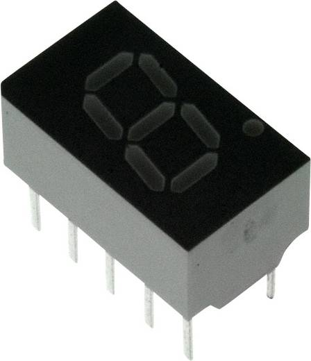 7-segments-display Rood 7.62 mm 2 V Aantal cijfers: 1 Broadcom