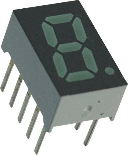 7-segments-display Groen 7.87 mm 2.1 V Aantal cijfers: 1 Broadcom