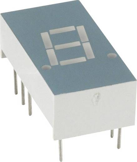 7-segments-display Geel 7.8 mm 2.1 V Aantal cijfers: 1 LUMEX