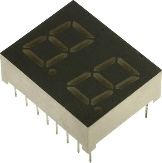 7-segments-display Geel 10.2 mm 2.1 V Aantal cijfers: 2 LUMEX