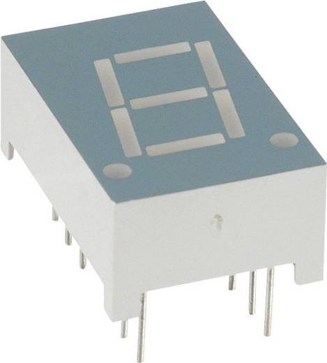 7-segments-display Rood 10.92 mm 1.8 V Aantal cijfers: 1 LUMEX