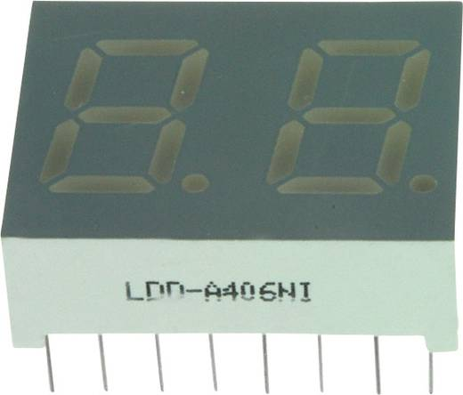 7-segments-display Rood 10.2 mm 1.7 V Aantal cijfers: 2 LUMEX