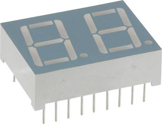 7-segments-display Geel 14.2 mm 2.1 V Aantal cijfers: 2 LUMEX