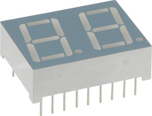 7-segments-display Rood 14.22 mm 2 V Aantal cijfers: 2 LUMEX
