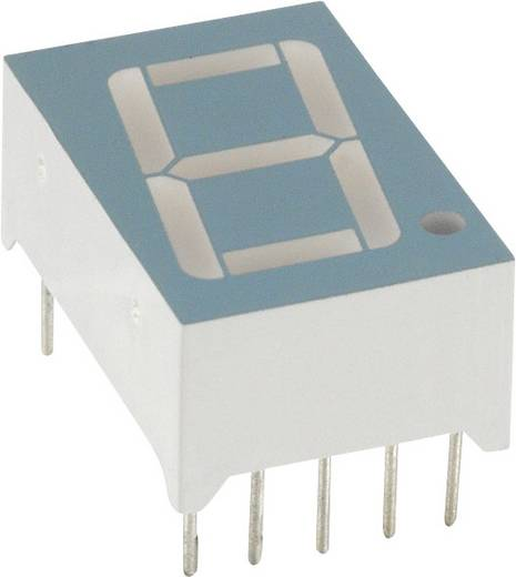 7-segments-display Rood 14.22 mm 2.1 V Aantal cijfers: 1 LUMEX