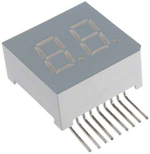 7-segments-display Groen 7.62 mm 2.2 V Aantal cijfers: 2 LUMEX