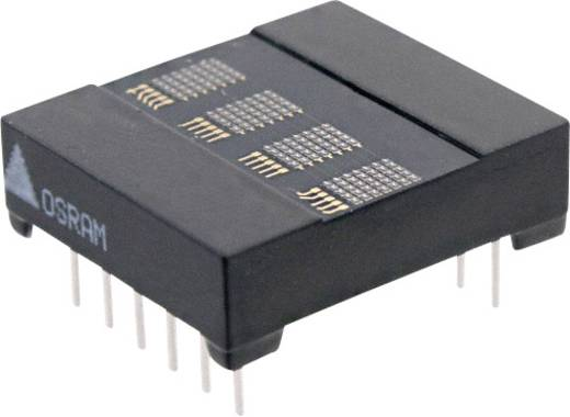 Dot-matrix display Rood 3.7 mm Aantal cijfers: 4 OSRAM