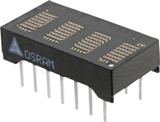 Dot-matrix display Groen 4.72 mm Aantal cijfers: 4 OSRAM
