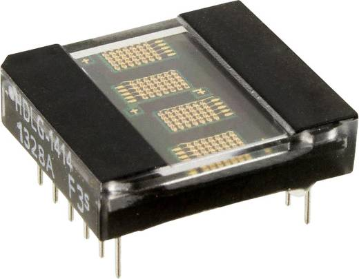 Dot-matrix display Groen 3.61 mm Aantal cijfers: 4 Broadcom