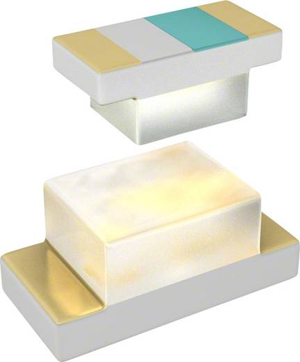 Everlight Opto SMD-LED 1608 Blauw 20 mcd 100 ° 20 mA 3.8 V