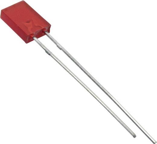 Everlight Opto LED bedraad Rood Rechthoekig 2 x 5 mm 4 mcd 100 ° 30 mA 2 V 1 stuks