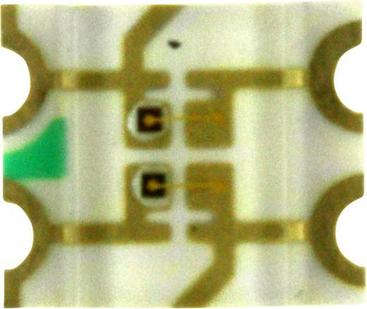 Dialight SMD-LED 3225 Groen, Geel 50 mcd, 135 mcd 140 ° 20 mA 2 V