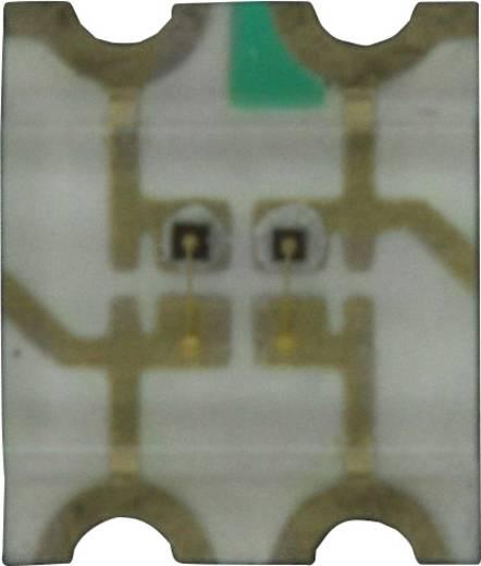 Dialight SMD-LED 3225 Rood, Geel 50 mcd, 135 mcd 140 ° 20 mA 2.2 V, 2 V