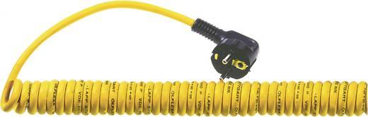 LappKabel 73220863 Netkabel Spirex spiraalkabel PUR mantel geel, aders VDE kleurcode met haakse stekker aan één zijde Geel