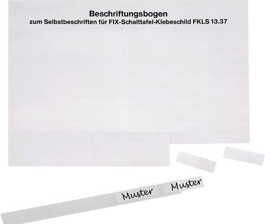 Kabeletiket 48 x 16 mm Kleur van het label: Wit