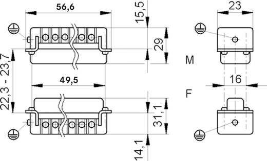 LappKabel 10441100 Businzetstuk EPIC H-A 10 Totaal aantal polen 10 + PE 1 stuks