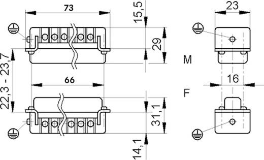 LappKabel 10531000 Businzetstuk EPIC H-A 16 Totaal aantal polen 16 + PE 1 stuks