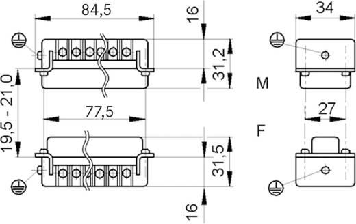 LappKabel 10195000 Lasklem EPIC H-BE 16 Totaal aantal polen 16 + PE 1 stuks
