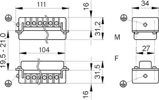 LappKabel 10197000 Businzetstuk EPIC H-BE 24 Totaal aantal polen 24 + PE 1 stuks