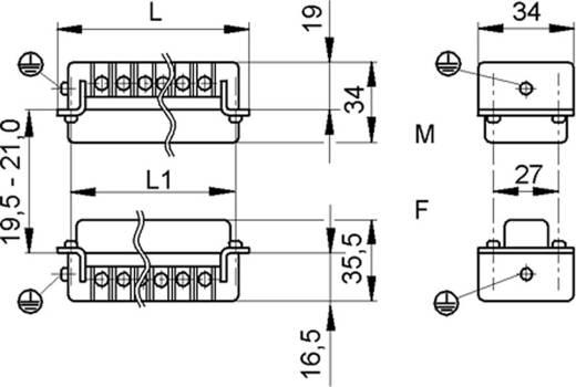 LappKabel 10171000 Businzetstuk EPIC H-BS 6 Totaal aantal polen 6 + PE 1 stuks