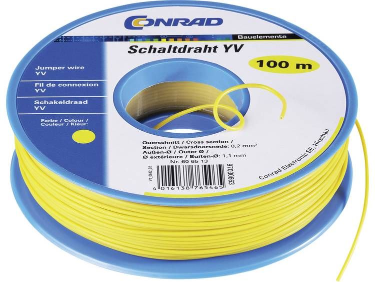 TRU COMPONENTS 1565378 Schakeldraad Yv 1 x 0.20 mm² Oranje 25 m
