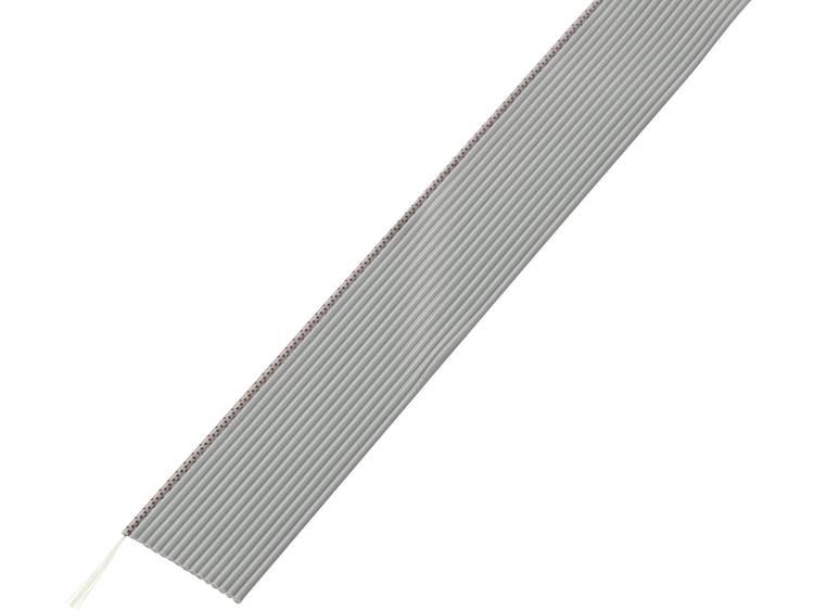 TRU COMPONENTS 1570254 Lintkabel Rastermaat: 1.27 mm 16 x 0.035 mm² Grijs 30.5 m